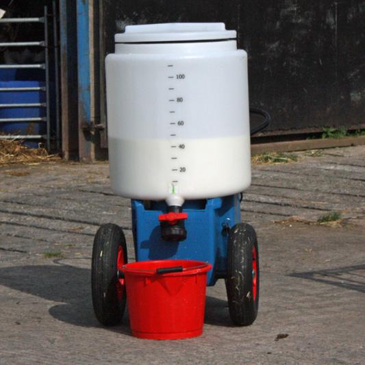 Stainless steel calf milk mixer from Livestock Supplies Ltd